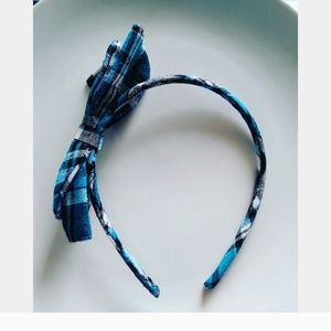 Other - Girls Blue and Black Pattern Bow Head Band